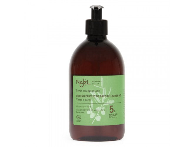 Najel Aleppo Liquid Soap with Organic Olive and Bay Laurel Oils
