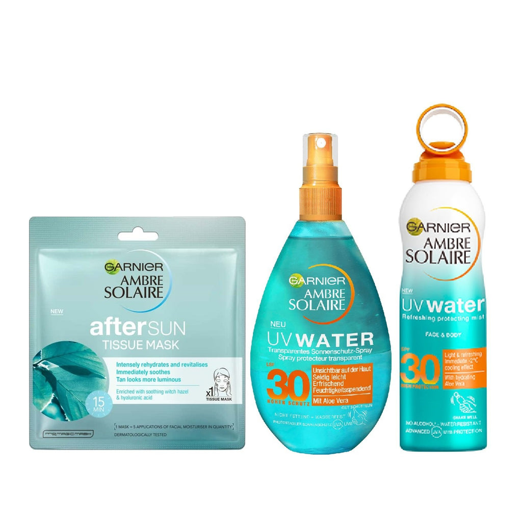 Garnier Ambre Solaire Eid Offer: Summer Essentials Bundle Free Tissue Mask