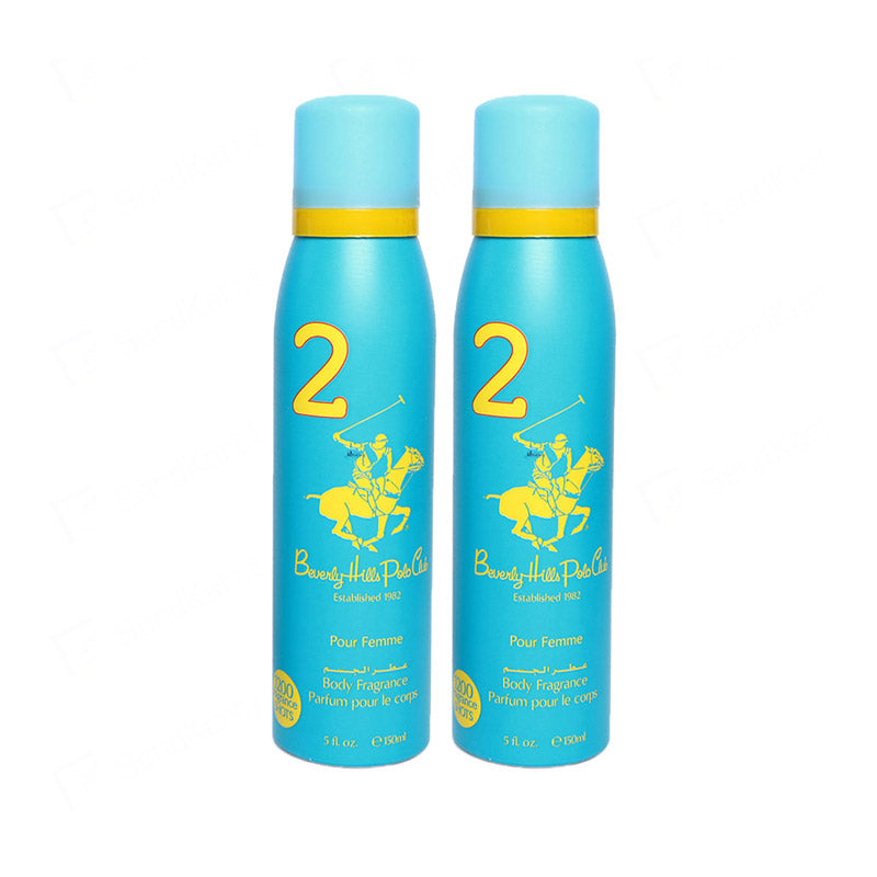 Beverly Hills Polo Club Sport Deodorant Twin Pack For Women