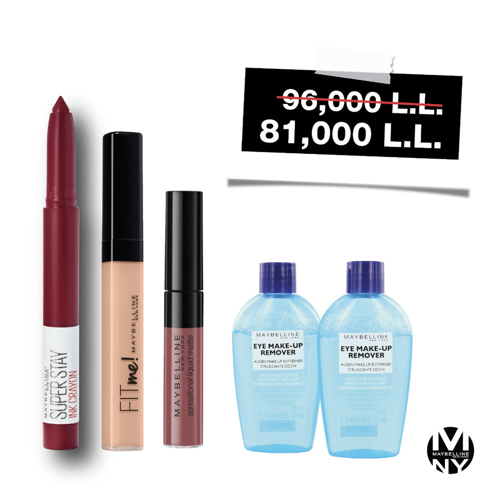 Maybelline Perfect Lips Bundle - Get 2 Free Makeup Remover