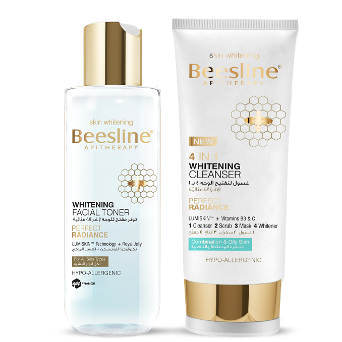 Beesline Whitening Facial Cleansing Day Routine