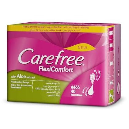 Carefree FlexiComfort Aloe Panty Liners