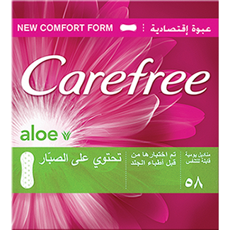 Carefree Normal Aloe Panty Liners