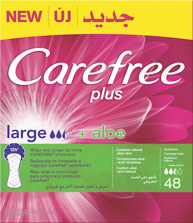 Carefree Plus Large Aloe Panty Liners