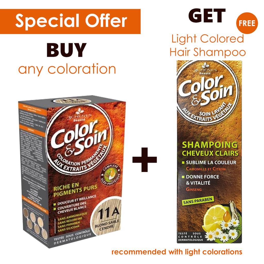 Color & Soin Permanent Hair Coloration + Free Light Colored Shampoo