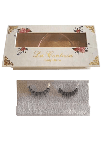 La Contessa Lashes Human Hair Collection Lady Diana - 15 uses