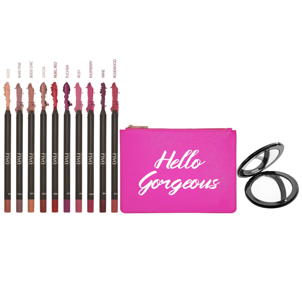 Dali Cosmetics Mother's Day Specials : 10 Lipliners + Free Pouch and Mirror