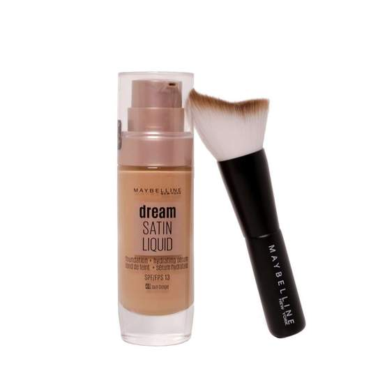 Maybelline Dream Satin Liquid Foundation + Free Brush