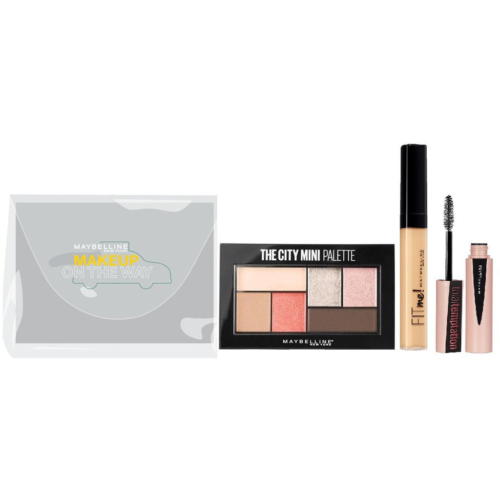 Maybelline City Mini Eyeshadow Palette + Fit Me Concealer + Free Mini Mascara - Makeup On The Way Ep4