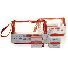 Eucerin Anti-Age Gift Set - Volume Filler (Day + Night + Eye Care) + POUCH!