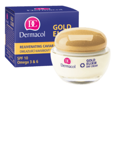 Dermacol Gold Elixir Day Cream - Rejuvenating caviar Day cream