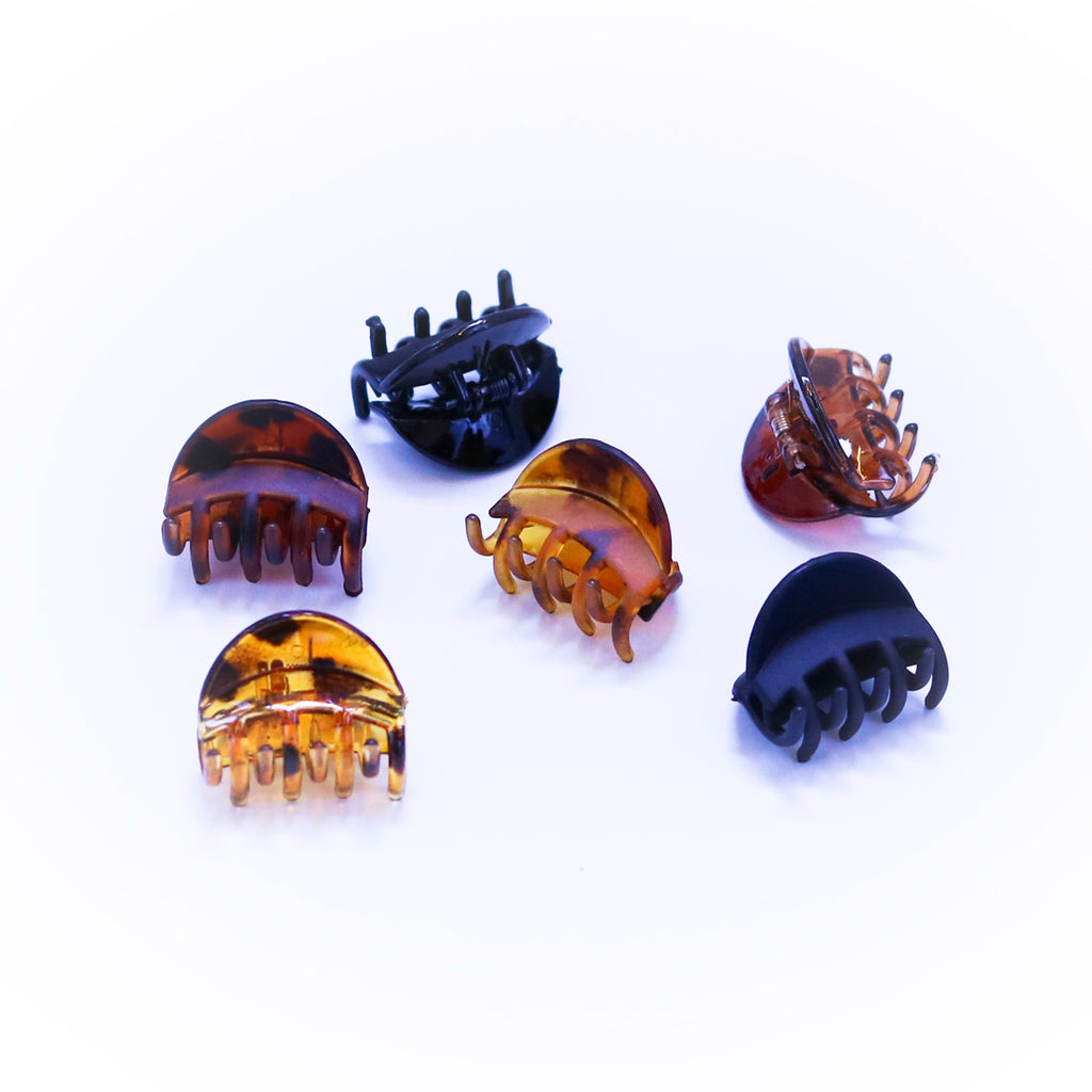 BonBon Beauty Choco-Confession Pack of 6 Hair Clips