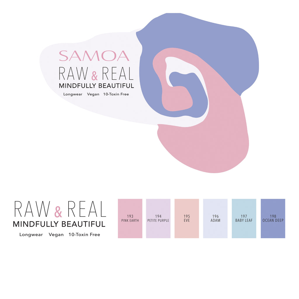 Samoa Real & Raw  Nail Polish Spring 2020 - Full Set