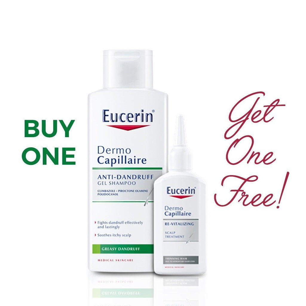 Eucerin DermoCapillaire Anti-Dandruff Gel Shampoo + FREE Scalp Treatment