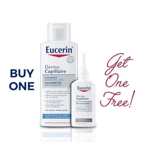 Eucerin DermoCapillaire Calming UREA Shampoo + FREE Scalp Treatment