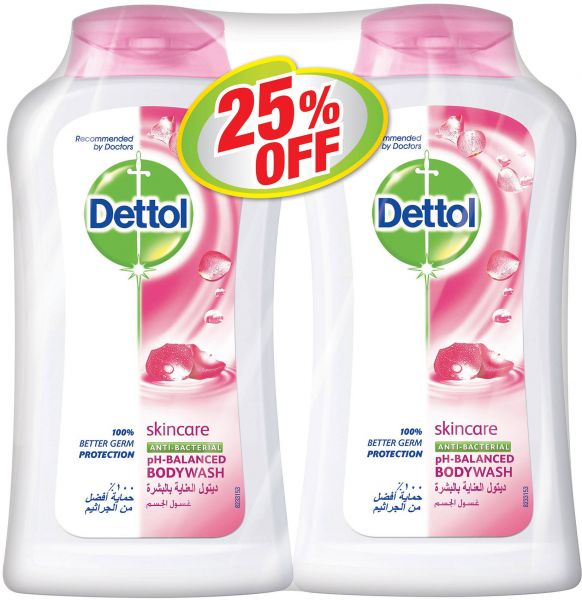 Dettol Anti-Bacterial Shower Gel - Buy 2 at 25% Off