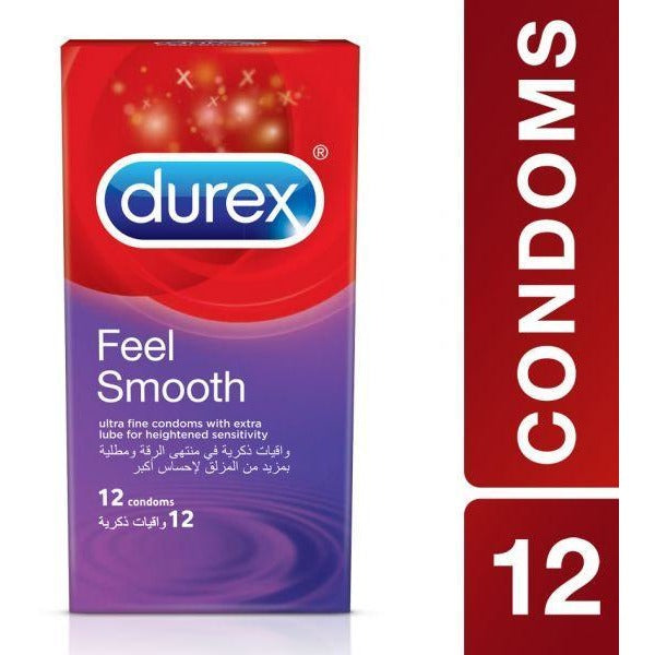 Durex Feel Smooth Condoms - Pack of 6 or 12