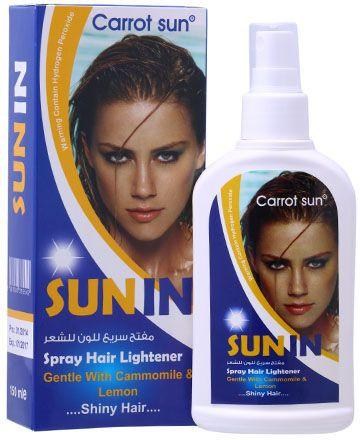 Carrot Sun Sun-in Spray Hair Lightener - with Chamomile & Lemon
