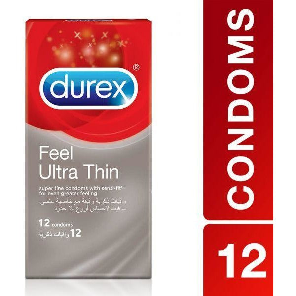 Durex Feel Ultra Thin Condoms - Pack of 12