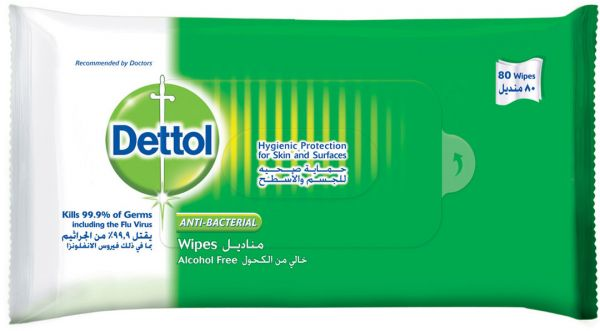 Dettol Skin & Surface Wipes Original 80'S