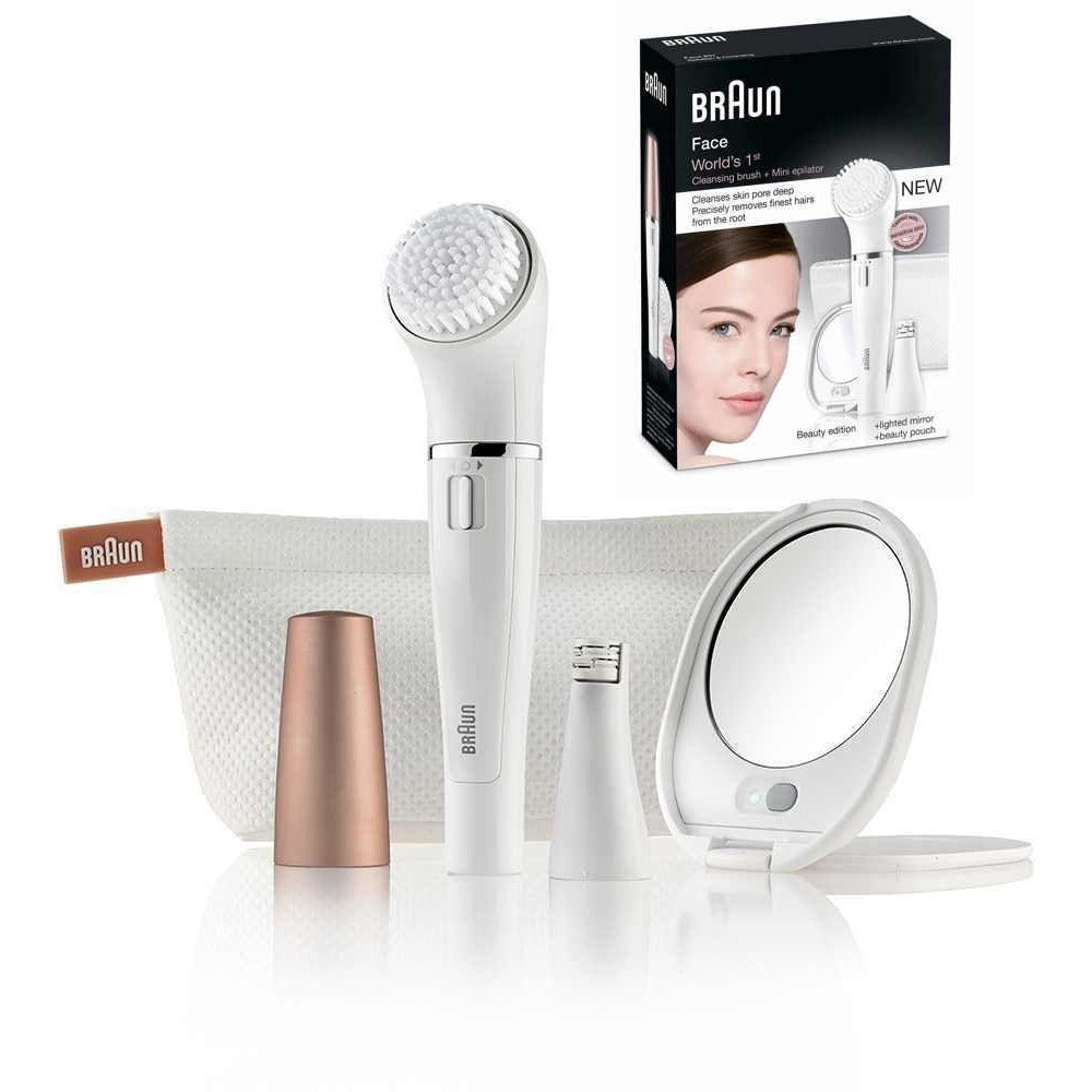 Braun Face SE831 Mini Epilator & Cleansing Brush Beauty edition