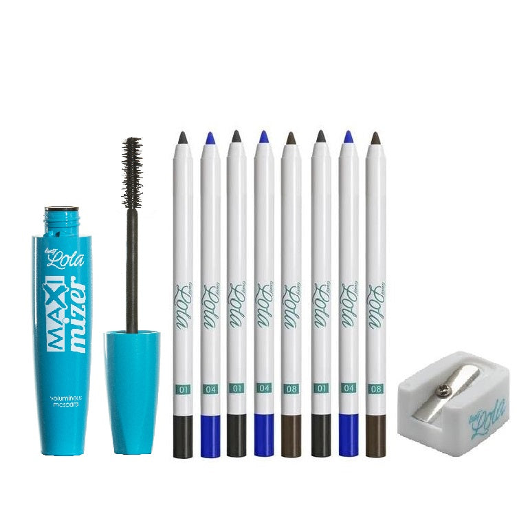 Lady Lola November Mania Offer: 8 Eyeliners + Maxi Mizer Mascara + Sharpener