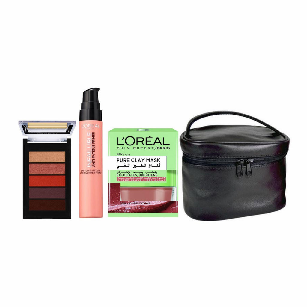 L'Oreal Paris All A Mother Needs Bundle + Free Makeup Travel Case