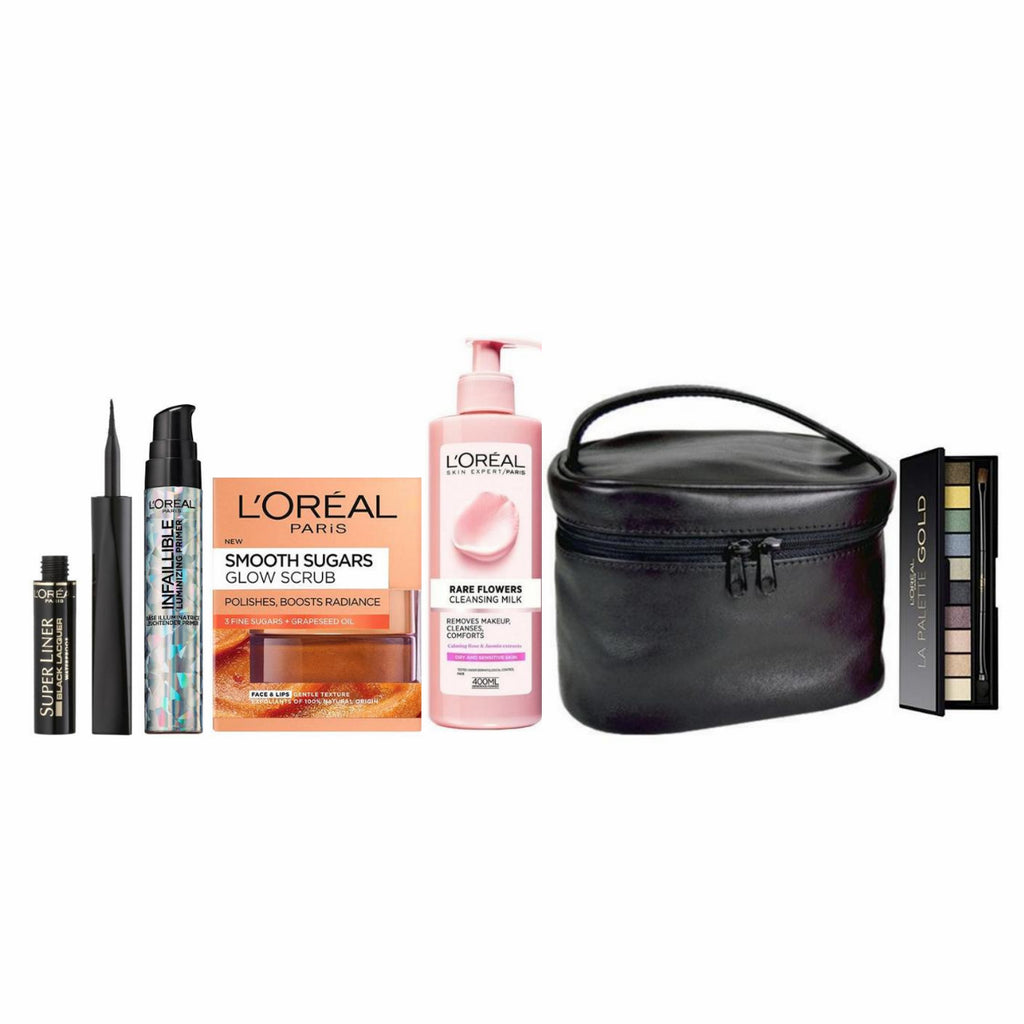 L'Oreal Paris All A Mother Needs Bundle + Free Gold Palette & Makeup Travel Case