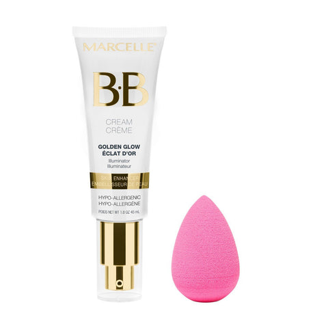 The Marcelle BB Cream Golden Glow & beautyblender original Kit