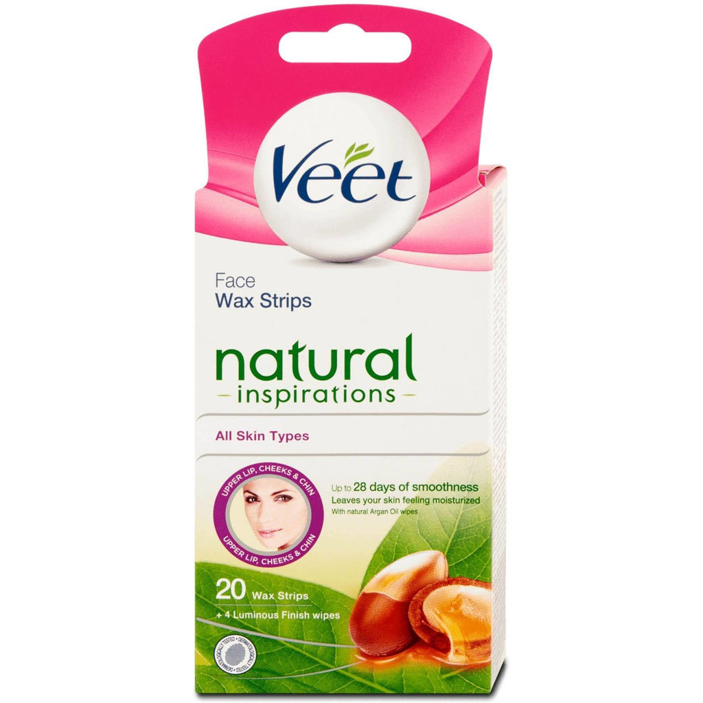 Veet Upper Lip, Cheeks & Chin: 20 Wax Strips - All Skin Types