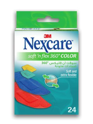 Nexcare Soft 'n' Flex Comfort Brights Bandages - Assorted Box of 24