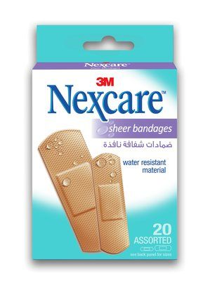 Nexcare Sheer Adhesive Bandages - Assorted Box of 20