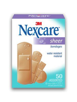 Nexcare Sheer Adhesive Bandages - Assorted Box of 50