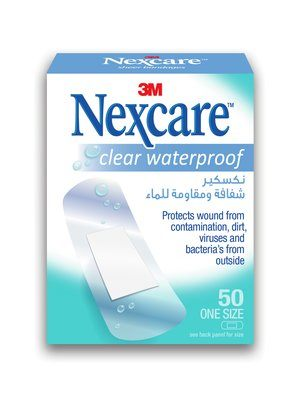 Nexcare Clear Waterproof Bandages - Box of 50