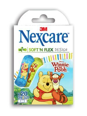 Nexcare Soft 'n' Flex Bandages Winnie The Pooh - Box of 20