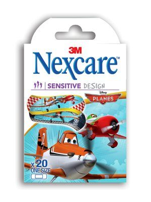 Nexcare Sensitive Design Bandages Planes - Box of 20