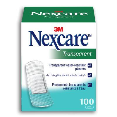 Nexcare Transparent Bandages - Box of 100