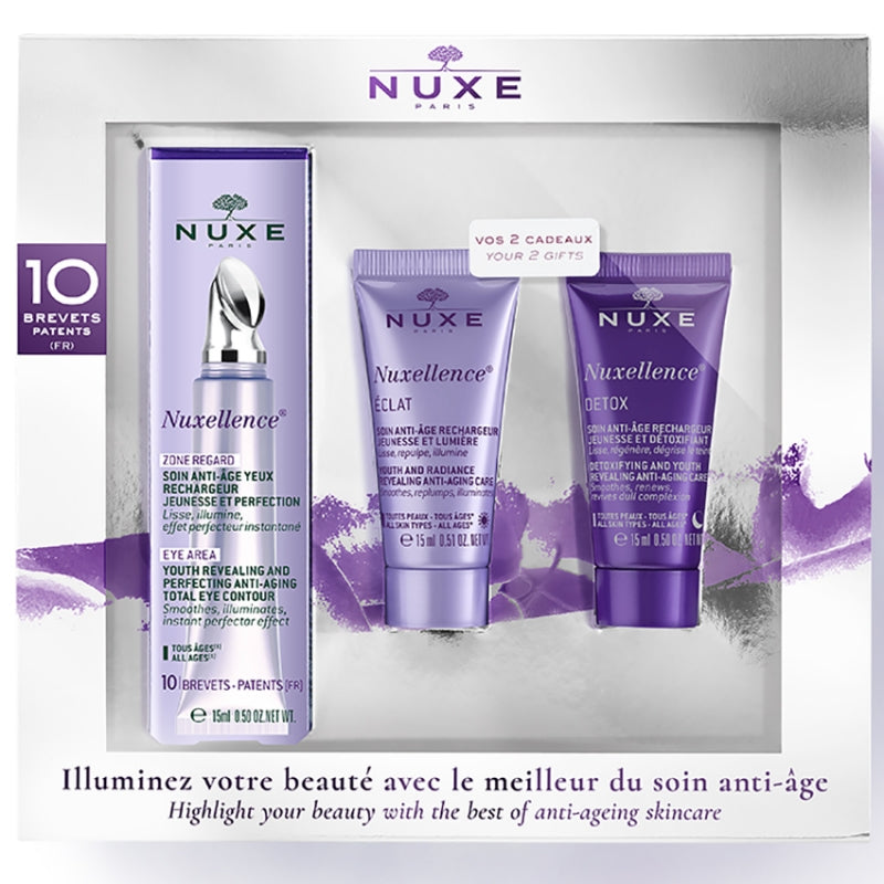 Nuxellence Set: Total Eye Contour + Free Mini Detox & Mini Revealing Anti-age Care