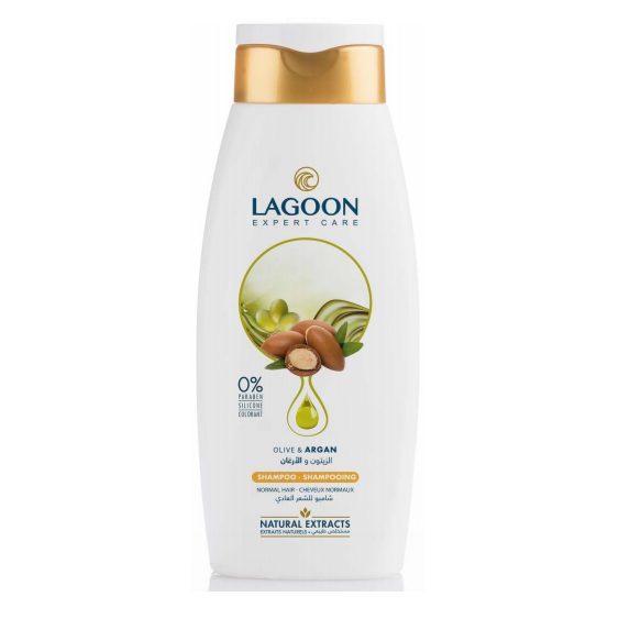 Lagoon Natural Extracts Shampoo for Normal Hair - Olive & Argan