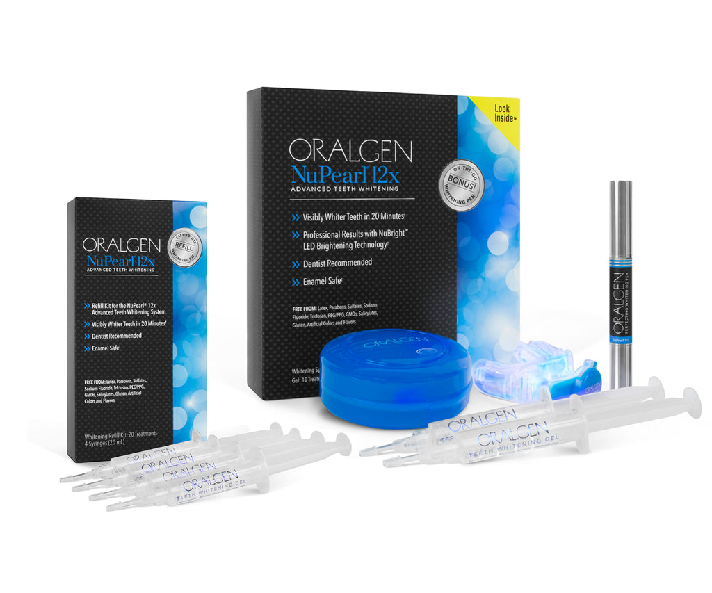 Oralgen Nupearl 12x Advanced Teeth Whitening System - Twice As Nice!