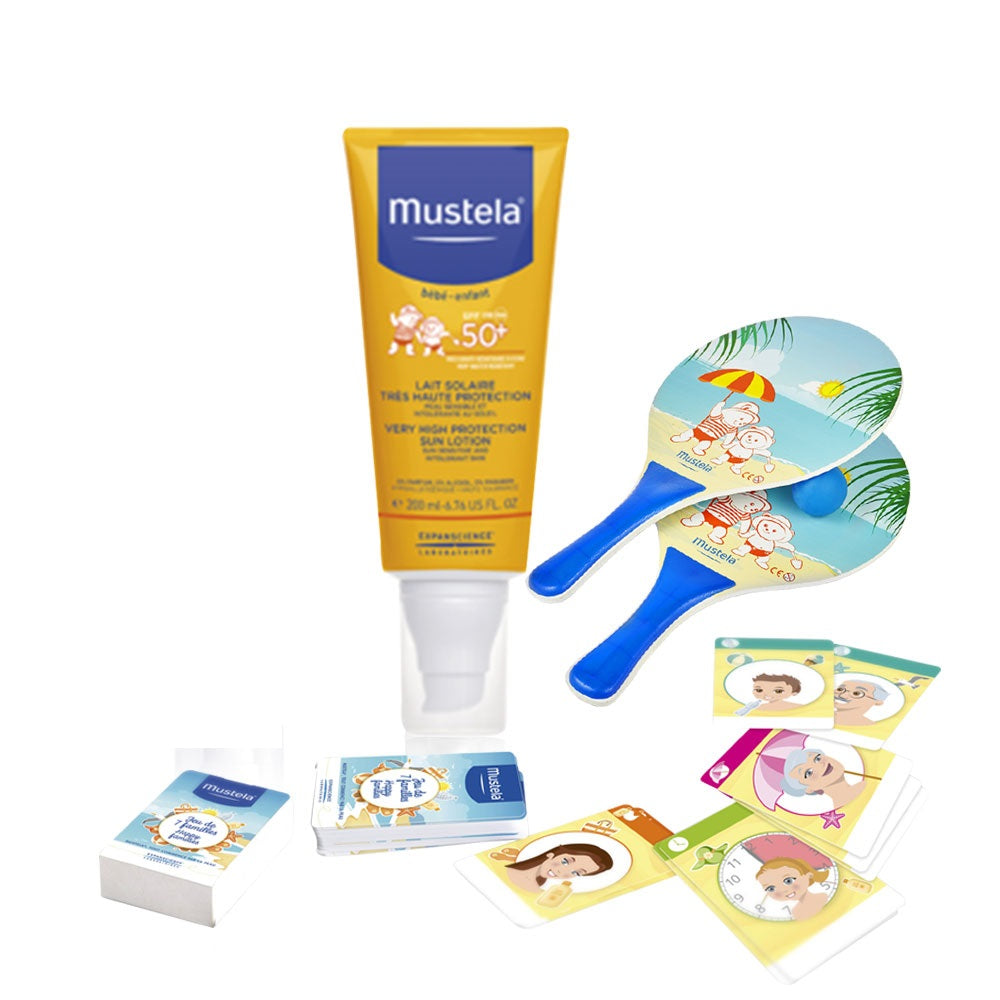 Mustela Very High Protection Sun Lotion for Face & Body + Sun Game Gift