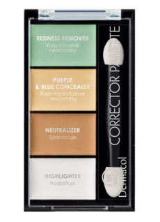 Dermacol Corrector Palette 4-color Corrector & Highlighter