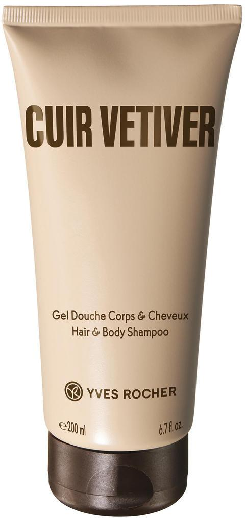 Yves Rocher Cuir Vetiver Hair & Body Shampoo