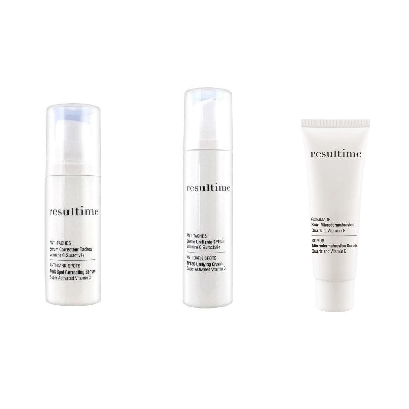 Resultime Anti Dark Spot Gift Set: Scrub, Serum & Cream