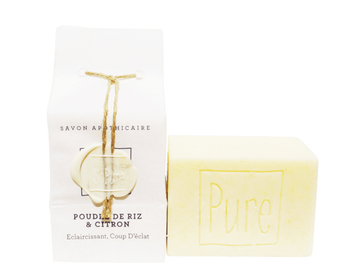 SoPure Soap Rice Powder and Lemon - Cleansing & Exfoliating 130g