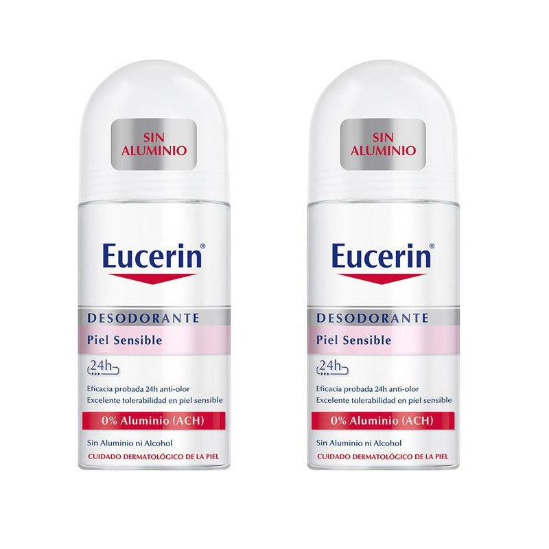 Eucerin 24h Aluminium-Free Sensitive Skin Roll-On Deodorant - BUY 1 GET 1 at 50% OFF!