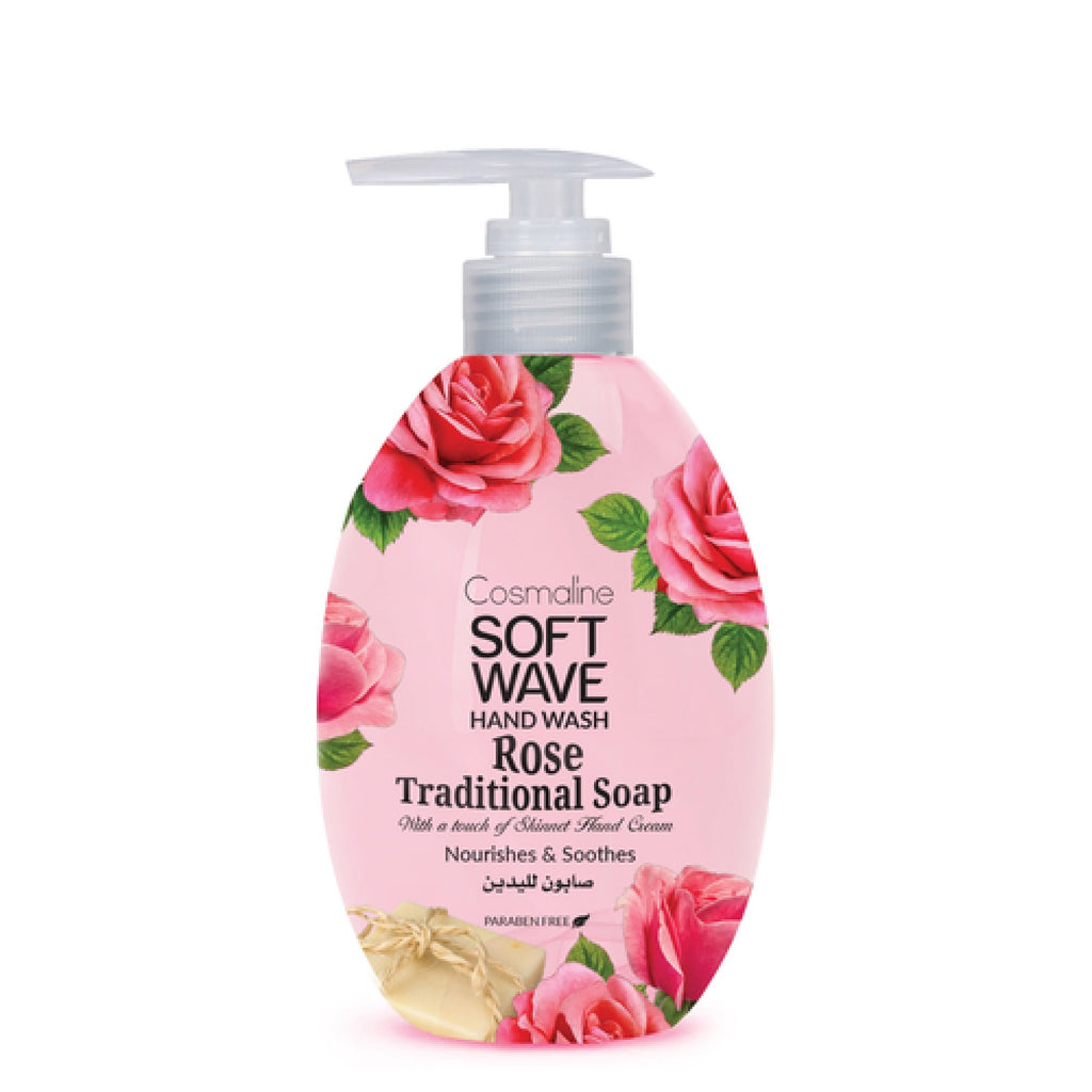 Cosmaline Soft Wave Rose Traditional Soap Hand Wash - Liquid Soap
