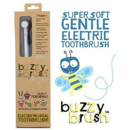 Jack N' Jill Buzzy Electric Musical Brush - With 6 Adorable Bubble Stickers