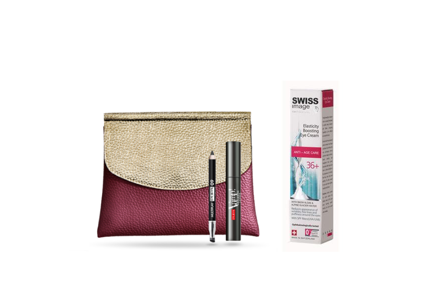 Pupa Milano Explosive Lashes Mascara & Multiplay Eyeliner Kit + Swiss Image Boosting Eye Cream