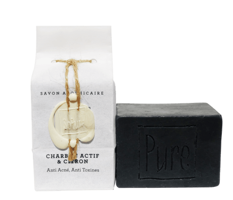 SoPure Soap Active Charcoal & Lemon - for acne / sensitive skin 130g
